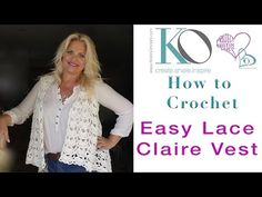 Tender Claire Crochet Vest SLOW for BEGINNERS Right Hand Crocheter Easy Pattern - YouTube