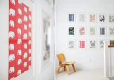 I love Josef Frank, if only I had access to a bunch of wallpaper samples I'd steal this look in a heartbeat.  Maybe something to repeat with other wallpapers