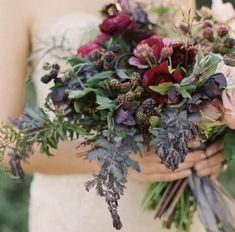 awesome 41 Wonderful Winter Wedding Bouquets Ideas You Will Love Cascading Wedding Bouquets, Winter Wedding Flowers, Bride Bouquets, Bridal Flowers, Flower Bouquet Wedding, Floral Bouquets, Floral Wedding, Wedding Colors, Winter Weddings