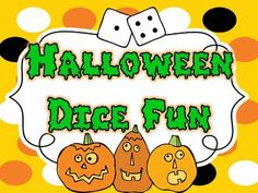 10 fun Halloween themed dice games. Perfect for Math stations and small groups.
