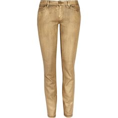 Gold-coated jeans