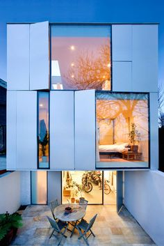 Modern home -- windows!
