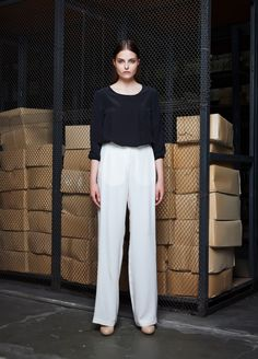 LONDON Blouse,  MOSCOW Trousers