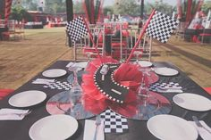 Cruising around looking for a perfect sports car party? Don't miss this Ferrari themed birthday party at Kara's Party Ideas with great elements! Ferrari Party, 1st Birthday Parties, Valentino, Party Ideas, Racing, Table Decorations, 1 Year, Kids Part, Rome