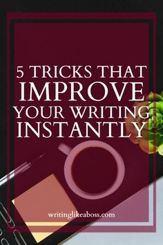 5 Tiny Tricks That Improve Your Writing Instantly – writing like a boss Writer Tips, Book Writing Tips, Writing Quotes, Writing Resources, Writing Help, Writing Skills, Writing Prompts, Writing Ideas, Writing Poetry