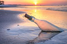 Message in a bottle, by JC Findley, Pensacola Beach, The Florida Pabhandle, beaches, sunrise, sunset, the Emerald coast, fort walton beach, destin, fl, fla, jcfindley, jc findley, romance, romantic, love, lonely