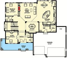 Craftsman With Amazing Great Room - 73330HS | Architectural Designs - House Plans