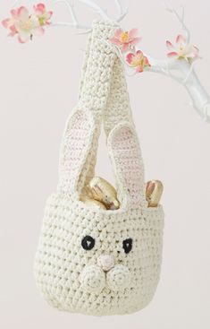 Bunny Basket Crochet Pattern