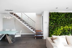 Jardin vertical et escalier Condo, Stairs, Green, Design, Inspiration, Furniture, Home Decor, Shopping, Ideas