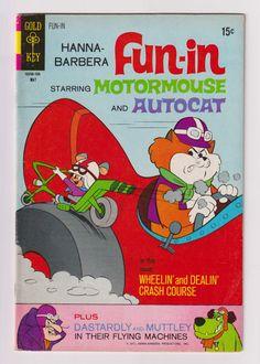 Hanna-Barbera Fun-In (Wacky Racers); Vol 1, 7 Bronze Age Comic Book. FN+ (6.5) May 1971. Gold Key Comics #wackyraces #hannabarbera #comicsforsale