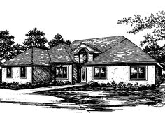 European House Plan with 2728 Square Feet and 4 Bedrooms from Dream Home Source | House Plan Code DHSW12586