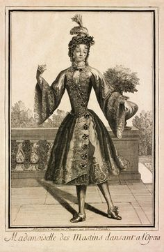 """Mademoiselle des Mastins Dansant a l'Opera"" by Jean Mariette, late 17th century"