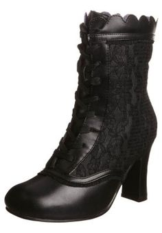 Gothic Victorian lace boots
