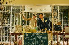 Cafe「三角屋根」が1日限定オープン! #Brideal #wedding #original #ordermade #ideas #fireworks #garden #green #ceremony #ブライディール #ウェディング #オリジナル #オーダーメイド #結婚式 #花火