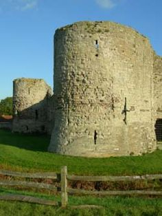 Pevensey Castle, one of Britain's oldest, circa AD 290, Sussex, UK