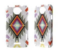 Aztec Htc One x s v Vivid Raider Amaze 4g Evo 3d Sensation XL Incredible Desire HD s Cover Phone Case Cute Cool Cheap HTC Cases Aztec. $17.50, via Etsy.