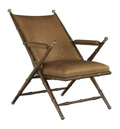 Camp Chair from the James River collection by Hickory Chair Furniture Co. Foyer Furniture, House Furniture, Furniture Design, British Colonial Decor, Rocking Chair Nursery, Campaign Furniture, Toddler Table And Chairs, Most Comfortable Office Chair, Hickory Chair