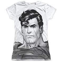 """Checkout our #LicensedGear products FREE SHIPPING + 10% OFF Coupon Code """"Official"""" Superman/bw Supes Head-s/s Junior Poly T- Shirt - Superman/bw Supes Head-s/s Junior Poly T- Shirt - Price: $24.99. Buy now at https://officiallylicensedgear.com/superman-bw-supes-head-s-s-junior-poly-t-shirt-licensed"""