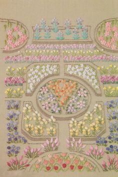 PDF patrón de un día en mi jardín mano bordado patrón coser edredón apliques patchwork arte regalo hecho a mano ebook