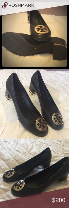 Tory Burch Amy brown Pump size 8 Amy pump in brown coconut almost new Tory  Burch