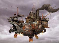 Airship Concept Art