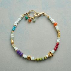 Our 'To the Shore' gemstone bracelet lends a vibrant medley of gemstones around your wrist.