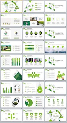 Business infographic : Business infographic : 27 Green Business Dynamic PowerPoint Presentations templa