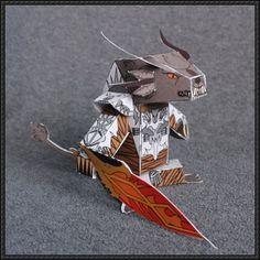 Guild Wars 2 - Rytlock Brimstone Free Papercraft Download | PaperCraftSquare.com