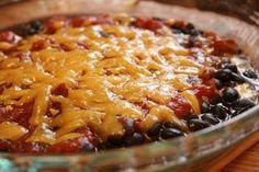 Super easy bean dip - 4 ingredients easy.