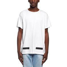 Brushed diagonals t-shirt from the F/W2016-17 Off-White c/o Virgil Abloh collection in white
