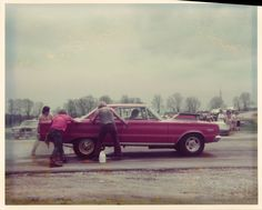 Rockford Dragstrip, back when they allowed you to hold the car while he's doing his burnout. I enjoyed this!