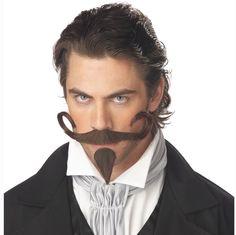 TRADITIONAL BLACK GENTLEMAN TASH One Size FAST POST Moustache Mens Fancy Dress