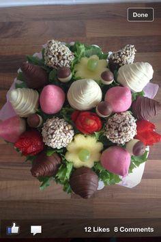 Fruit & chocolate bouquets