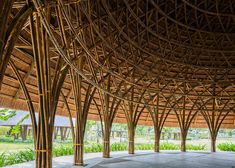 Diamond Island Community Center by Trong Nghia Architects « Inhabitat – Green Design, Innovation, Architecture, Green Building Bamboo Roof, Bamboo House, Bamboo Garden, Bamboo Building, Natural Building, Green Building, Timber Architecture, Sustainable Architecture, Architecture Design