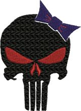 Hello Punisher Kitty Embroidery design