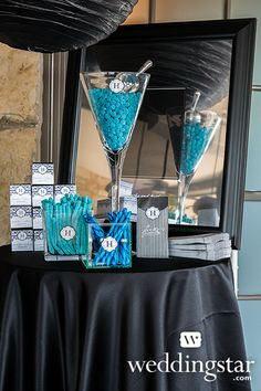 Royal Blue Wedding. Fit your candy buffet into your wedding colors with this incredibly blue table setup