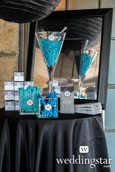 "Royal Blue Wedding. ""Sweet"" Goodie Bag, Item 9174 {#wedding, candy bar, reception, opulent}"