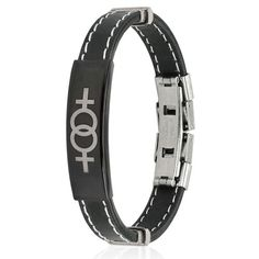Double Female Symbol Steel Plate Stitch Accent Rubber Wristlet - LGBT Lesbian Pride Bracelets Price: $17.49 http://www.shareasale.com/m-pr.cfm?merchantID=36679&userID=856296&productID=546097094
