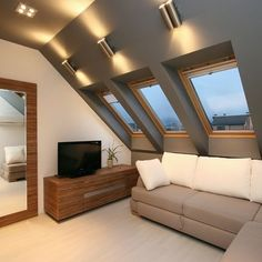 Savory Attic bedroom interior design,Minimum attic renovation and Attic storage wellington. House Design, Loft Conversion, Loft Lighting, House, Attic Lighting, Home, Contemporary Bedroom, Bedroom Loft, Attic Remodel