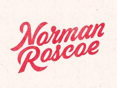 Norman Roscoe Refresh designed by Bret Hawkins. Script Logo, Script Type, Typography Logo, Lettering Design, Logo Design, Type Design, Graphic Design, Type Logo, Zeina