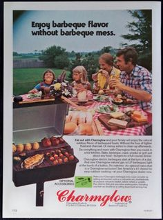 1976 Charmglow Electric Gas Barbeque Grills Magazine Ad | eBay