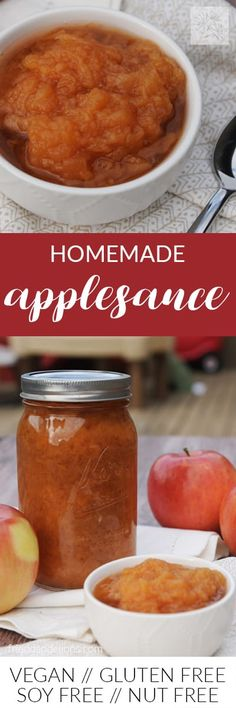 "1 ingredient (yep, apples) homemade applesauce is SOOOOOO much better than store-bought! And it's easy to make too—give my easy ""recipe"" a try!"