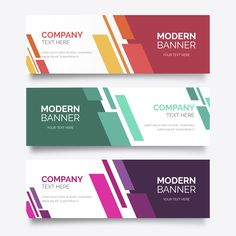 Abstract banner collection with modern shapes Free Vector Vintage Logos, Vintage Grunge, Retro Logos, Vintage Typography, Firma Email, Banner Vertical, Vector Design, Logo Design, Xbanner Design
