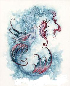 "♪ ""Seahorse Crush"" de Amy Brown"