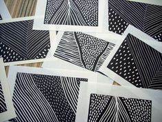 Lovely patterns lino cut block prints