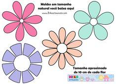 Molde de flores em EVA ou patch aplique