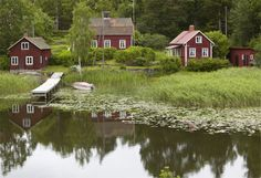 Sverige Sommarstuga- Swedish summer cottages- looks just like the ones we had in northern MN