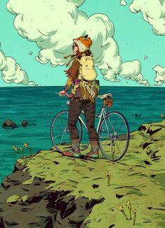 A bike e a paisagem