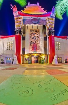Grauman's Chinese Theater Replica houses The Great Movie Ride at Disney's Hollywood Studios, Walt Disney World, FL