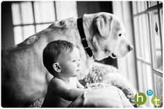 Baby with her Dog. Every kid should have a dog : ) HBT photo blog